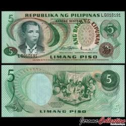 PHILIPPINES - Billet de 5 Piso - Andres Bonifacio - 1978 P160a