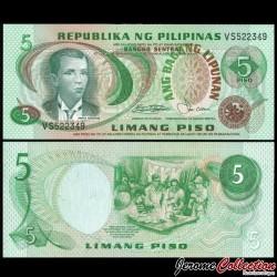 PHILIPPINES - Billet de 5 Piso - Andres Bonifacio - 1978 P160b