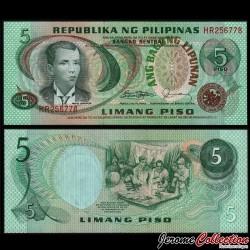 PHILIPPINES - Billet de 5 Piso - Andres Bonifacio - 1978