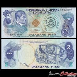 PHILIPPINES - Billet de 2 Piso - Jose Rizal (Visite du Pape) - 1981 P166a