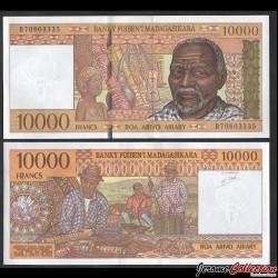MADAGASCAR - Billet de 10000 Francs / 2000 Ariary - 1995 P79b