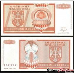 BOSNIE HERZEGOVINE - Billet de 1 000 000 000 000 Dinara - 1993 P147a