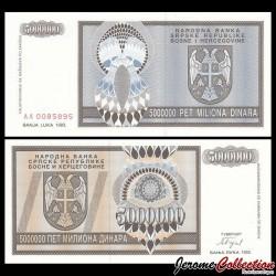 BOSNIE HERZEGOVINE - Billet de 5 000 000 Dinara - 1993 P143a