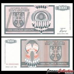 BOSNIE HERZEGOVINE - Billet de 1000 Dinara - 1993