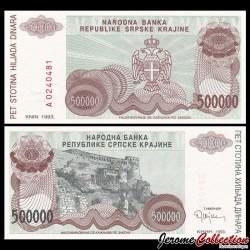 CROATIE - BILLET de 500000 Dinars - Forteresse de Knin - 1993 PR23a