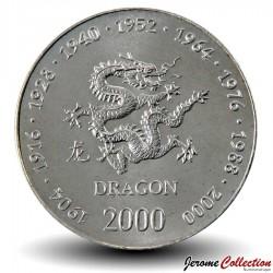 SOMALIE - PIECE de 10 shillings - Année du Dragon - 2000 Km#94