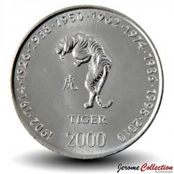 SOMALIE - PIECE de 10 shillings - Année du Tigre - 2000 Km#92
