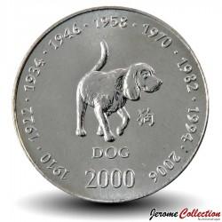 SOMALIE - PIECE de 10 shillings - Année du Chien - 2000 Km#100