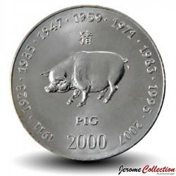 SOMALIE - PIECE de 10 shillings - Année du Cochon - 2000 Km#101