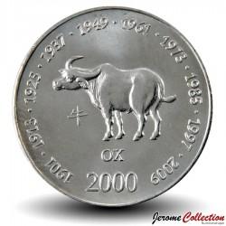 SOMALIE - PIECE de 10 shillings - Année du Buffle - 2000 Km#91