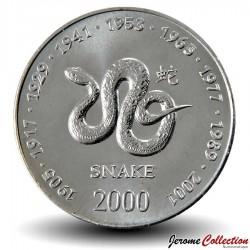 SOMALIE - PIECE de 10 shillings - Année du Serpent - 2000 Km#95