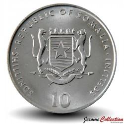 SOMALIE - PIECE de 10 shillings - Année du Coq - 2000
