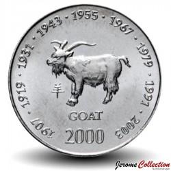 SOMALIE - PIECE de 10 shillings - Année de la Chèvre - 2000