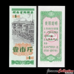 CHINE - Ticket de rationnement du Hunan / Liangpiao  - 1 - 1978