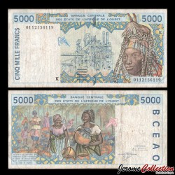 BCEAO - SENEGAL - Billet de 5000 Francs - 2001