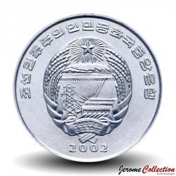COREE DU NORD - PIECE de 1/2 Chon - Pintade casquée - 2002