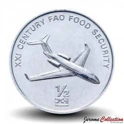 COREE DU NORD - PIECE de 1/2 Chon - avion à réaction - 2002 Km#194