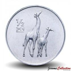 COREE DU NORD - PIECE de 1/2 Chon - Girafes - 2002 Km#186