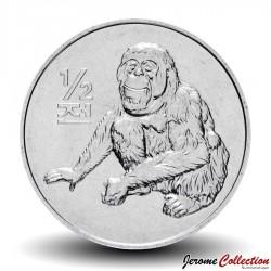 COREE DU NORD - PIECE de 1/2 Chon - Singe Orang-outang - 2002 Km#184