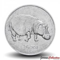 COREE DU NORD - PIECE de 1/2 Chon - Hippopotame - 2002 Km#190
