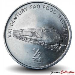 COREE DU NORD - PIECE de 1/2 Chon - Train - FAO - 2002 Km#193