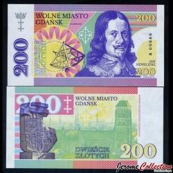 POLOGNE - Billet de 200 Zlotych - Johannes Hevelius - 2017