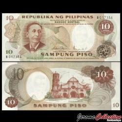PHILIPPINES - Billet de 10 Piso - Apolinario Mabini - 1969