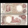 PHILIPPINES - Billet de 10 Piso - Apolinario Mabini - 1969 P144a