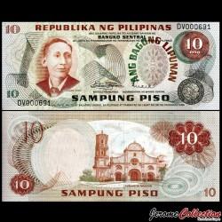 PHILIPPINES - Billet de 10 Piso - Apolinario Mabini - 1970