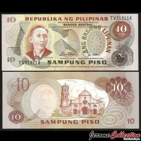 PHILIPPINES - Billet de 10 Piso - Apolinario Mabini - 1978 P161b