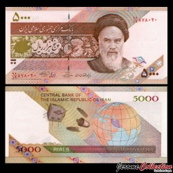 IRAN - Billet de 5000 Rials - Satellite OMID - 2009