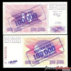 BOSNIE HERZEGOVINE - Billet de 100000 Dinara - Pont de Mostar - 1.9.1993 P34a