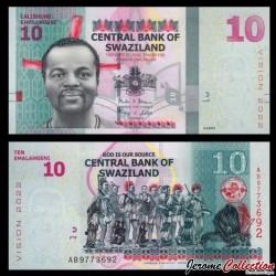 SWAZILAND (Eswatini) - Billet de 10 Emalangeni - 2015 P41a