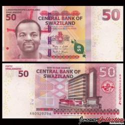 SWAZILAND (Eswatini) - Billet de 50 Emalangeni - 2010 P38a