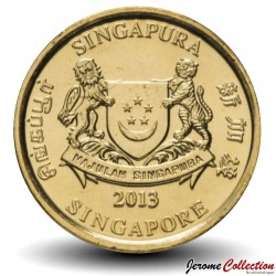 SINGAPOUR - PIECE de 5 Cents - Centre des arts du spectacle - 2013
