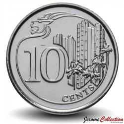 SINGAPOUR - PIECE de 10 Cents - Logement social - 2013 Km#346