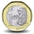 SINGAPOUR - PIECE de 1 Dollar - Bimétal - Merlion - 2013