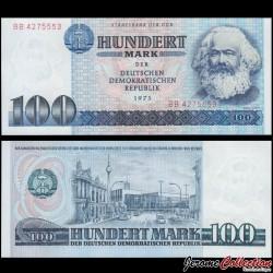 ALLEMAGNE DE L'EST / DDR / RDA - Billet de 100 Mark - Karl Marx - 1975 P31a