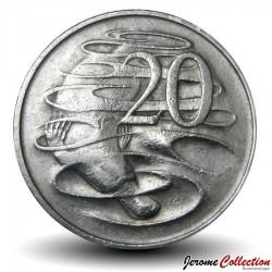 AUSTRALIE - PIECE de 20 Cents - Un ornithorynque - 1968 Km#66