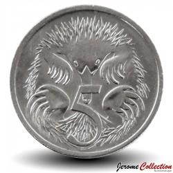 AUSTRALIE - PIECE de 5 Cents - Echidné australien - 2001