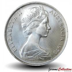 AUSTRALIE - PIECE de 5 Cents - Echidné australien - 1970