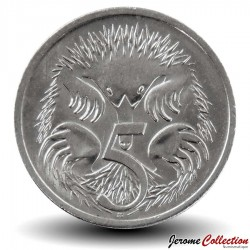 AUSTRALIE - PIECE de 5 Cents - Echidné australien - 2008