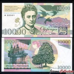 NORVEGE - Billet de 10000 Kroner - Gina Krog - 2017