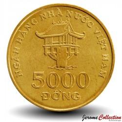 VIETNAM - PIECE de 5000 Dong - La pagode Chua Mot Cot - 2003 Km#73