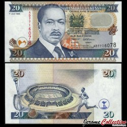 KENYA - Billet de 20 Shillings - Moi International Sports Centre - 1995