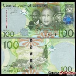 LESOTHO - Billet de 100 Maloti - Berger - 2013 P24b