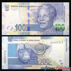 AFRIQUE DU SUD - Billet de 100 Rand - Buffles du Cap - 2016 P141b