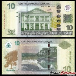 SURINAME - Billet de 10 DOLLARS - 01.09.2010