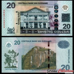 SURINAME - Billet de 20 Dollars - Volzberg - 01.04.2012 P164b