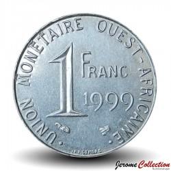 ETATS DE L'AFRIQUE DE L'OUEST - PIECE de 1 FRANC - 1999 - BCEAO Km#8